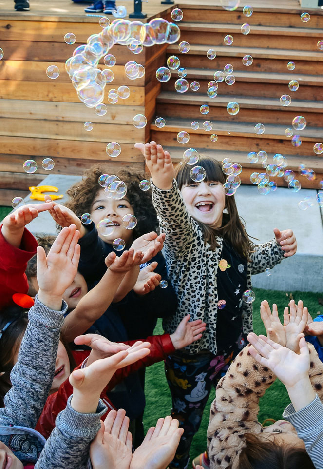 These party bubbles will land in your hand, fun for everyone